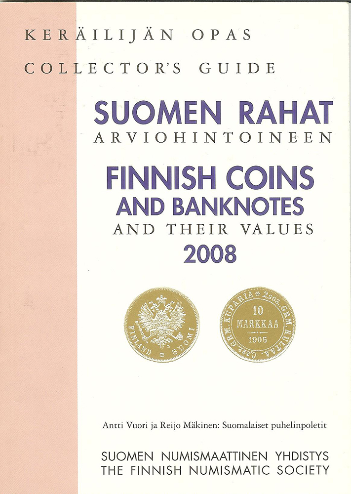 Finnish coins and Banknotes and tyeir Values 2008