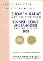 Finnish coins and Banknotes and tyeir Values 2008 / 2